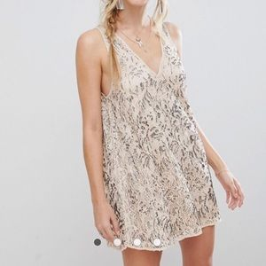 NWT Free People Embellished Mini Dress